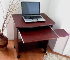 "SW2718 26"" W. Narrow Compact Computer Desk w/ Mouse Tray"