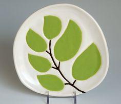 handmade dessert or appetizer plate leaves on a by hopejohnson