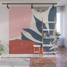 Summer Sunset Wall Mural by ivetaangelova - Murales Pared Exterior Bedroom Murals, Bedroom Wall, Bedroom Decor, Mural Wall Art, Diy Wall, Wall Design, Colorful Interiors, Decoration, Room Inspiration