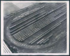 New York City Subway Train Yard 1953