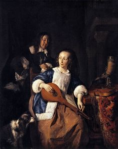 Page of The Cittern Player by METSU, Gabriel in the Web Gallery of Art, a searchable image collection and database of European painting, sculpture and architecture Gabriel Metsu, Dutch Golden Age, Web Gallery, Renaissance Paintings, European Paintings, Dutch Painters, Art Database, Western Art, Sculpture