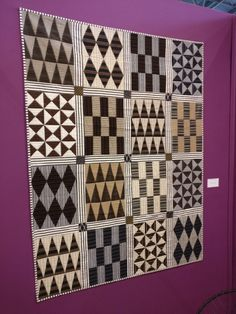 Great use of stripes by Pamela Goecke Dinndorf Sampler Quilts, Amish Quilts, Boy Quilts, Scrappy Quilts, Plaid Quilt, Grey Quilt, Quilt Inspiration, Quilt Corners, Black And White Quilts