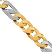 Two Tone Gold Mens Fancy Chain 10 mm Gold Chains For Men, Solid Gold, Fancy, Mens Gold Chains