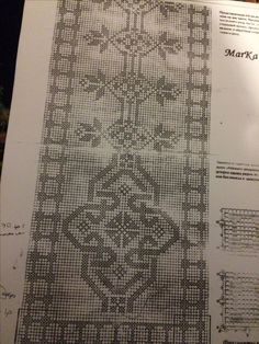 Embroidery Patterns, Cross Stitch Patterns, Thread Crochet, Filet Crochet, Monochrom, Alphabet, Diy And Crafts, Projects To Try, Rugs