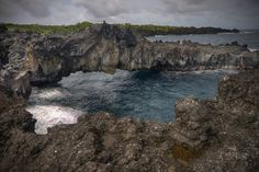 Sea Arch is an art print  of the Wai'anapanapa Natural Arch on the Hawaiian Island of Maui.