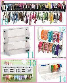 The Scrap Shoppe: Creative Ribbon Storage Ideas