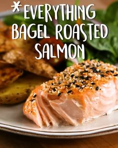 And its only four ingredients Everything The post Everything Bagel Roasted Salmon appeared first on Tasty Recipes. One Dish Meals Tasty Recipes Fish Recipes, Gourmet Recipes, New Recipes, Yummy Recipes, Dinner Recipes, Cooking Recipes, Yummy Food, Healthy Seafood Recipes, Cooking Fish