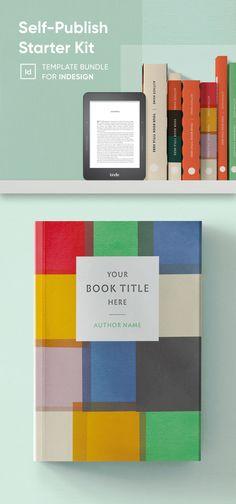 Self-Publish Starter Kit for InDesign | Book Design Template Pack Book Design Templates, Indesign Templates, Note Fonts, Cover Style, Cover Template, Magazine Template, Self Publishing, Paperback Books, Starter Kit