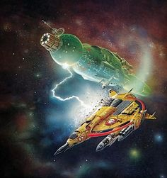 Untitled painting by Bob Layzell from Harry Harrisons book Mechanismo (1978)