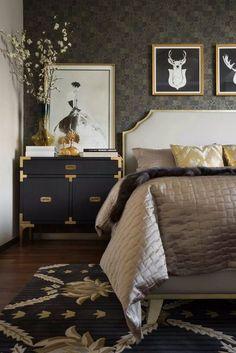 44 ideas for art deco interior wallpaper beds Deco Furniture, Colorful Furniture, Bedroom Furniture, Furniture Ideas, Furniture Layout, Furniture Makeover, Furniture Design, Art Deco Bedroom, Bedroom Decor