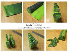Creator's Joy: Free Leaf Cane Tutorial in Polymer clay