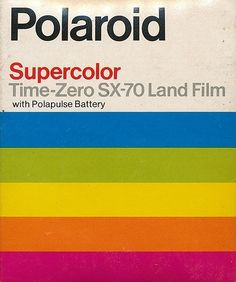 Polaroid Supercolor Time-Zero SX-70 Land Film