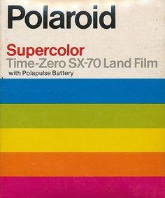 Polaroid Supercolor Time Zero SX 70 Land Film on Designspiration Vintage Polaroid, Vintage Cameras, Polaroid Film, Polaroids, Film Camera, Logo Foto, New Retro Wave, Poster Design, Grafik Design