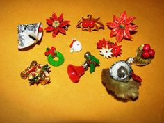 Vintage Christmas Costume Earrings Charms Lot by TheIDconnection, $18.00