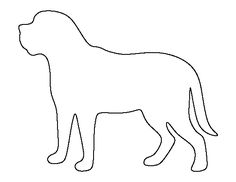 Mastiff pattern. Use the printable outline for crafts, creating stencils, scrapbooking, and more. Free PDF template to download and print at http://patternuniverse.com/download/mastiff-pattern/