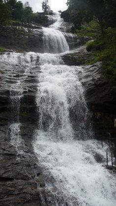 Waterfall on the Way to Munnar, Kerala,
