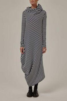 Платье VR черно-белое