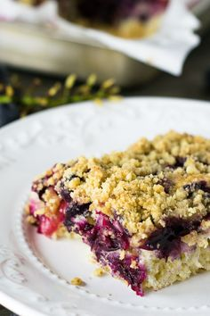 Concord Grape Crumb Cake | Travel Cook Tell