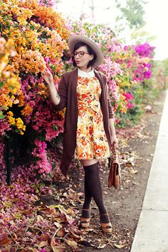 floral with knee highs