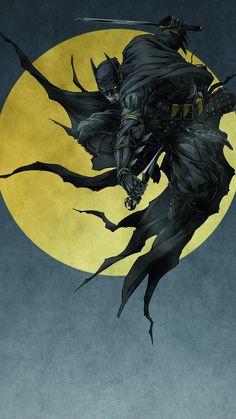 Wallpaper for Batman Ninja (NaN) Batman Poster, Batman Artwork, Batman Comic Art, Batman Drawing, Joker Comic, Batman Ninja, Im Batman, Batman Robin, Gotham Batman