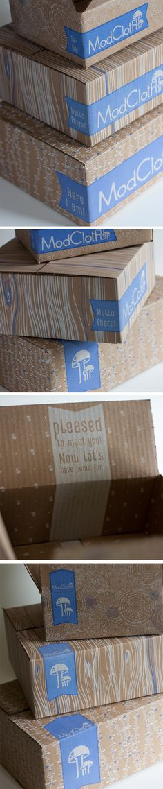 ModCloth 2013 Shipping Boxes by Joseph DeFerrari, via Behance