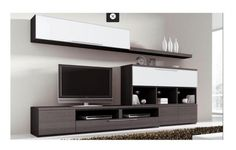 Modern Entertainment Center, Entertainment Room, Tv Furniture, Lounge Furniture, Tv Wall Decor, Wall Tv, Living Room Designs, Living Room Decor, Sofa Design