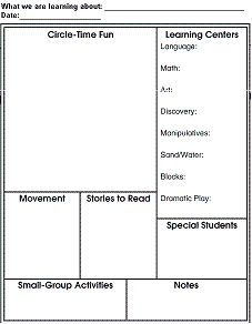 Sample Of Creative Curriculum Lesson Plans For Infants Toddlers ...