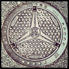 This is a tipical design of the manhole cover in Nordic Europe