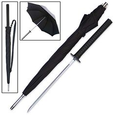"This classic businessman's umbrella looks and works like a regular umbrella. But, this self-defense tool hides a secret weapon. Just unscrew the handle and a 14"" stainless steel blade is unveiled to deter would-be attackers. Never leave home without this trusty late night protector. 38"" overall."