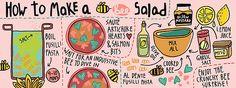 Bee Salad from doublexuan via flickr
