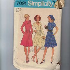 1970s Vintage Sewing Pattern Simplicity 7091 by historicallypatterns, $6.00