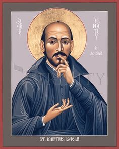 "St. Ignatius Loyola | Catholic Christian Religious Art - Icon by Br. Robert Lentz, OFM - From your Trinity Stores crew, ""Here's to Jesuit St. Ignatius!"""