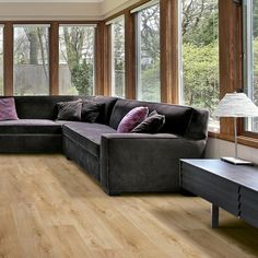 Laminate Flooring at Carpetright Quick Step Flooring, Oak Laminate Flooring, Basement Remodeling, Outdoor Furniture, Outdoor Decor, Home Improvement, Couch, Living Room, Interior
