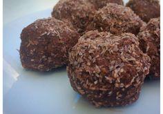 snacks altos en proteína de coco y chocolate                                                                                                                                                     Más