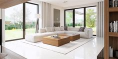 Find home projects from professionals for ideas & inspiration. Projekt domu HomeKONCEPT 15 by HomeKONCEPT White House Interior, Home Interior Design, Big Living Rooms, Living Room Decor, Living Room Theaters, Concept Home, Home Fashion, Apartment Living, Living Room Designs