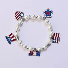 4th of July Independence Day Patriotic Pearl by stargazinglily, $7.00