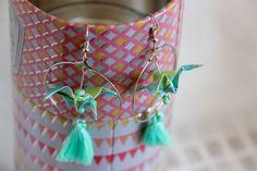 Les boucles d'oreilles Origami fait main - Vanille et Vega