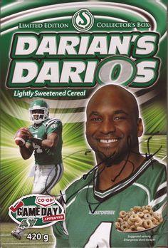 Darian's DariO's Go Rider, Saskatchewan Roughriders, Canadian Football League, Saskatchewan Canada, Pride, Stars, Retro, Green, Fun