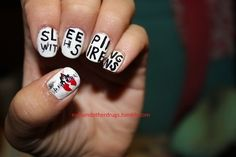 Sleeping With Sirens Nail Art!