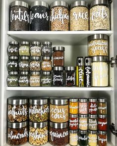 5 Brilliant Organizing Ideas to Steal From the Most Inspiring Pantries 🍀Cub & Clover 🍀 Here's all the motivation you'll need to (finally!) declutter your pantry.<br> Here's all the motivation you'll need to (finally!) declutter your pantry. Kitchen Pantry Design, Kitchen Cabinets Decor, Cabinet Decor, New Kitchen, Kitchen Ideas, Cabinet Ideas, Kitchen Inspiration, Cupboard Ideas, Corner Cupboard