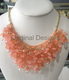 WATER FALL NECKLACE IN CORAL