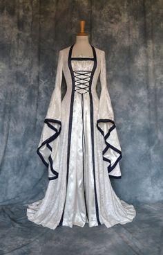 Medieval Elvish Pre-Raphaelite Gothic Wedding Dress by Frockfollies