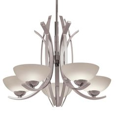 Transitional 5-light Chandelier in Polished Nickel  sc 1 st  Pinterest & Harlow - 5 Light Chandelier - Polished Nickel Finish with Slate ... azcodes.com