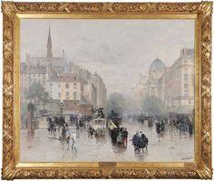Après l'averse, (Paris – Le Boulevard du Palais), 1885  Huile sur toile  152 x 185 cm.