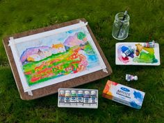 how to: plein air art supplies (with printables)