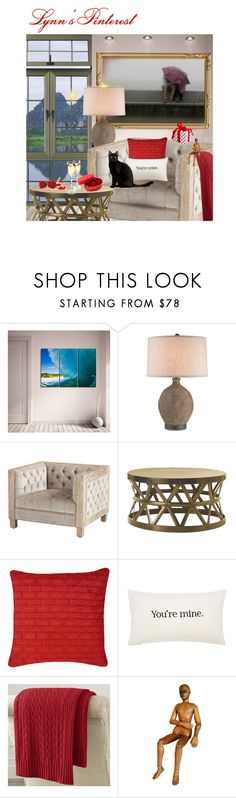 """""""Valentine's Evening -  #3529"""" by lynnspinterest ❤ liked on Polyvore featuring interior, interiors, interior design, home, home decor, interior decorating, Ready2hangart, Currey & Company, HORIZON and Valentino"""