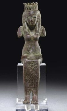 AN EGYPTIAN BRONZE ISIS THIRD INTERMEDIATE PERIOD, DYNASTY XXI-XXV, 1070-712 B.C.