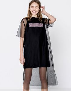 :Tulle dress with text T-shirt