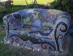 Mosaic sofa...not comfy but very cool