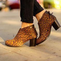 Botines con animal print de leopardo modelo Giralda de Gioseppo by @marilynscloset